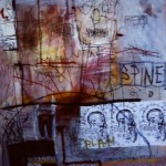 Consumption -drawing 2. Mixed media on paper.70cm x 100cm. 1992