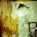 'Tar'. Mixed media on paper. 200cm x 120cm. 1994