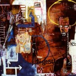 'Consumption'. Mixed media on canvas. 1992 - 93. 200cm x 500cm