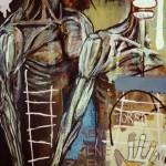 (Detail 2)'Consumption'. Mixed media on canvas. 1992 - 93. 200cm x 400cm