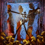 'Gathering' Oil on canvas. 200cm x 150cm. 1991