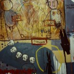 'Love story 2' mixed media on canvas. 100cm x 80cm. 1992