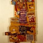 'Shopping list'. mixed media on board. 120cm x 180cm. 1992