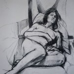 Sleeping Nude. Black Pencil on Paper. 2011. 100cm x 50cm