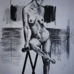 Untitled Nude. Charcoal on Paper 2. 2011. 100cm x 50cm