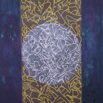 Runes of revolt (Graffiti is dead). Oil, resin, spray paint, marker on Canvas 140 x 100 cm 2011