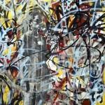 'Freedom of speech 2' Mixed media on canvas. 120cm x 120cm. 1996
