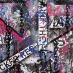 'Freedom of speech 3' Mixed media on canvas. 120cm x 120cm. 1996