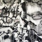 'Freedom of speech' Mixed media on canvas. 120cm x 120cm. 1996
