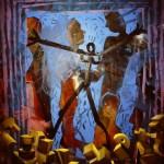 'Gathering' Oil on canvas. 200cm x 150cm. 1991