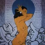 La Putain 13. 2011. Mixed Media on Paper. 60cm x 50cm