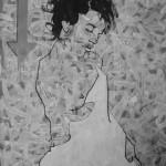 La Putain  7. 2011. Mixed Media on Paper. 60cm x 50cm