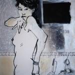 La Putain  8. 2011. Mixed Media on Paper. 60cm x 50cm