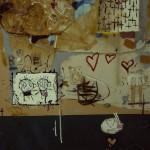 'Love story' mixed media on canvas. 100cm x 80cm. 1992