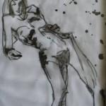 'Rude Nude' ink on paper. 30cm x 50cm. 2008