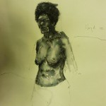 Study of a Nude. 2010.2 Pen & Ink on paper. 30cm x 50cm