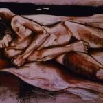 Untitled Nude. Conte on Sepia Paper. 2011. 100cm x 50cm