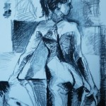 Untitled Nude. Oil Pastel on Paper. 2011. 60cm x 50cm