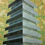 Utopian-Matrix. Paint on canvas 120 x 90 cm 2011