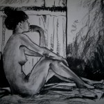 untitled nude. Charcoal on paper. 43 cm x 59 cm. 2013