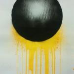 Malevolent Simulation 1.2. Paints on paper. 76 x 58 cm. 2012