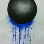 Malevolent Simulation 1.1. Paints on paper. 76 x 58 cm. 2012
