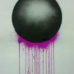 Malevolent Simulation 1.3. Paints on paper. 76 x 58 cm. 2012