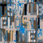 The other side of modernity 2, oil, acrylic, spray paint enamel on canvas 40 x 70 cm 2016