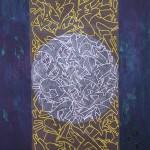 Runes of revolt (Graffiti is dead). Oil, resin, spray paint, marker on Canvas 140 x 100 cm 2011